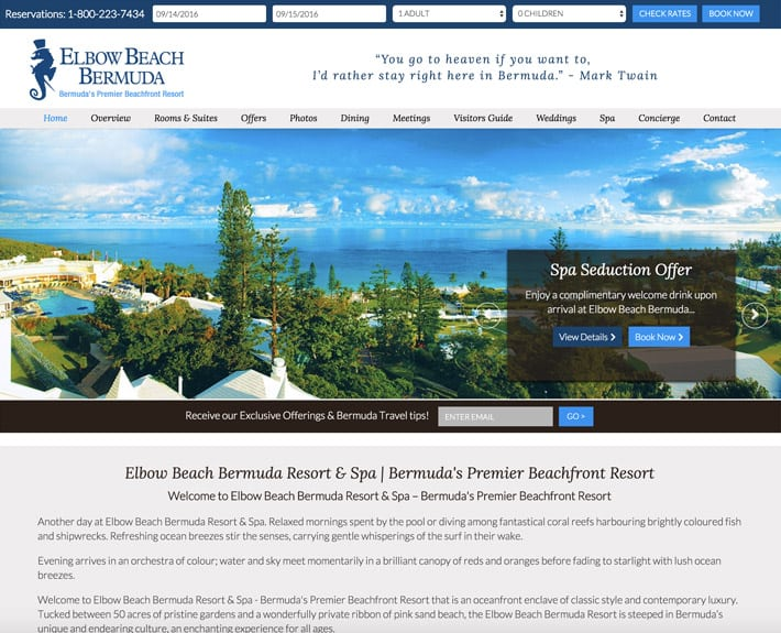 hotel website designs
