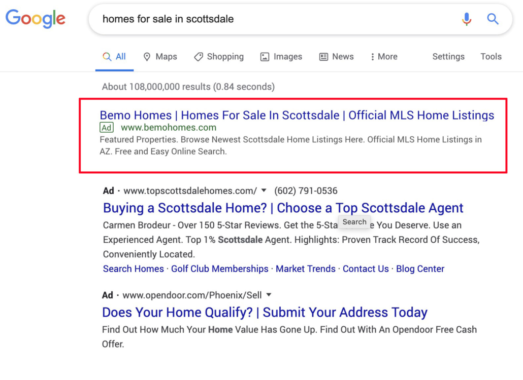 Google Ads Management Company in Scottsdale