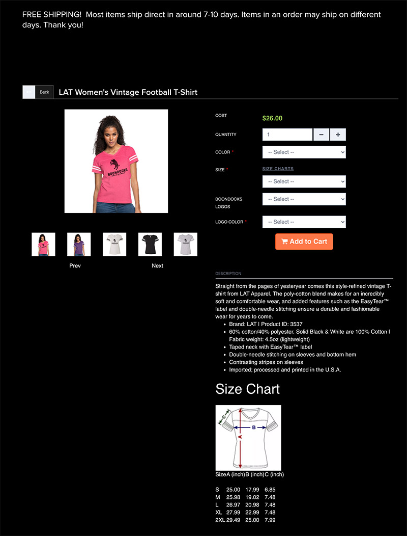Free Online Store options